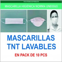 Mascarillas TNT Lavable Covid-19
